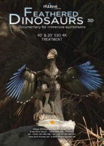 Teaser poster for Feathered Dinosaurs.